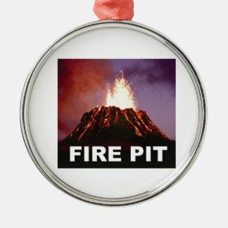 Feuergrubenkunst Silbernes Ornament