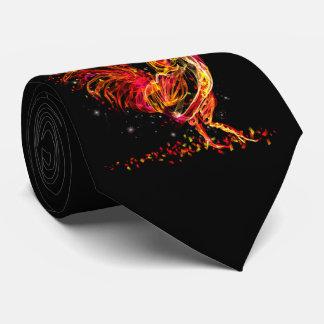 Feuerhahn. Cooler Entwurf des lodernden Krawatte