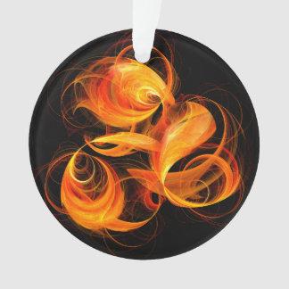 Feuerkugel-abstrakter Kunst-Acryl-Kreis Ornament