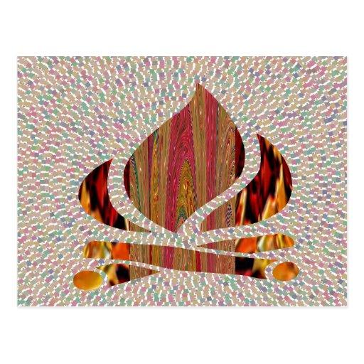 FEUERN Sie Flammensymbol DES Postkarte