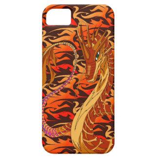Feuern Sie korallenroter Drache-extravagante iPhone 5 Case