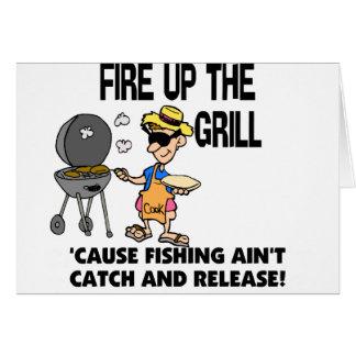 Feuern Sie oben den Grill ab Grußkarte