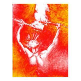 Feuerspiel Postkarte