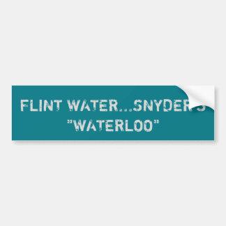 Feuerstein-Wasser-Autoaufkleber Autoaufkleber