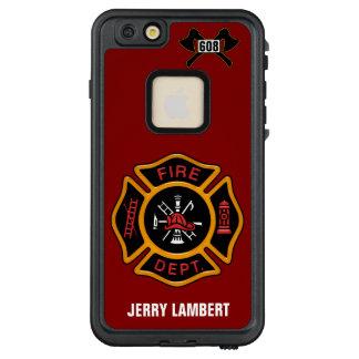 Feuerwehr-Abzeichen-Namen-Schablone LifeProof FRÄ' iPhone 6/6s Plus Hülle
