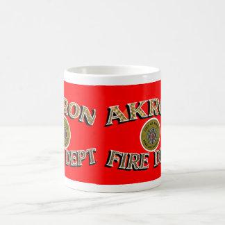 Feuerwehr-Becher Akrons Ohio Kaffeetasse