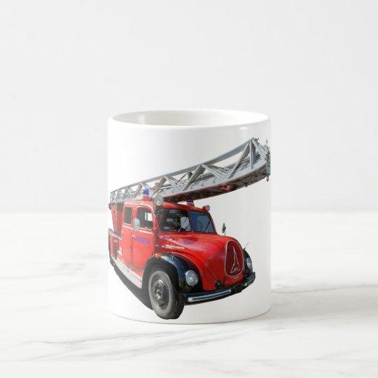 Feuerwehr-Drehleiterwagen Kaffeetasse