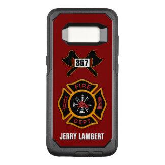 Feuerwehr-Feuerwehrmann-Abzeichen-Namen-Schablone OtterBox Commuter Samsung Galaxy S8 Hülle