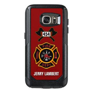 Feuerwehr-Feuerwehrmann-Abzeichen-Namen-Schablone OtterBox Samsung Galaxy S7 Hülle
