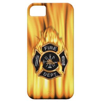 Feuerwehr Gold-Abzeichen mit Flammen iPhone 5 Hüllen