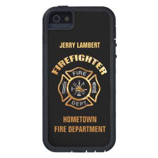 Feuerwehr-Goldnamen-Schablone iPhone 5 Cover