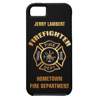 Feuerwehr-Goldnamen-Schablone iPhone 5 Schutzhüllen