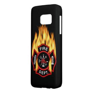 Feuerwehr-loderndes Abzeichen