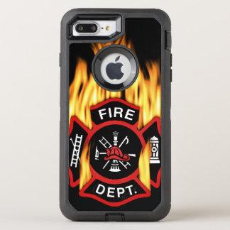 Feuerwehr-loderndes Abzeichen OtterBox Defender iPhone 7 Plus Hülle