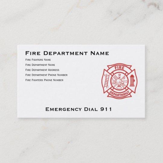 Feuerwehr Malteserkreuz Visitenkarte Zazzle De