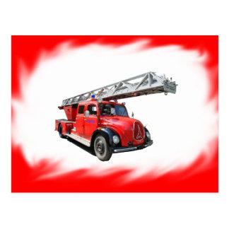 Feuerwehr-Postkarte Postkarte