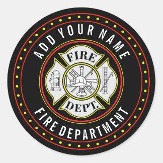 Feuerwehr-rundes Abzeichen Runder Aufkleber