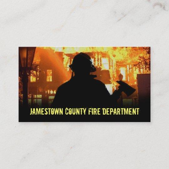 Feuerwehr Visitenkarten Visitenkarte Zazzle De