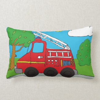 Feuerwehrauto Lendenkissen 33 cm x 53,3 cm Pillow
