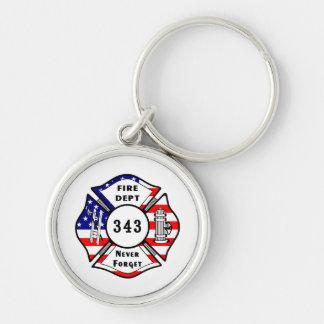 Feuerwehrmann 9/11 vergessen nie 343 schlüsselanhänger
