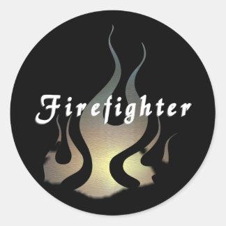 Feuerwehrmann-Abziehbild Runder Aufkleber