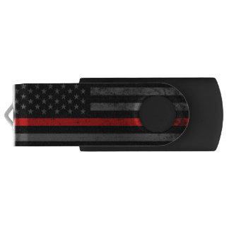Feuerwehrmann-Art beunruhigte amerikanische Flagge USB Stick