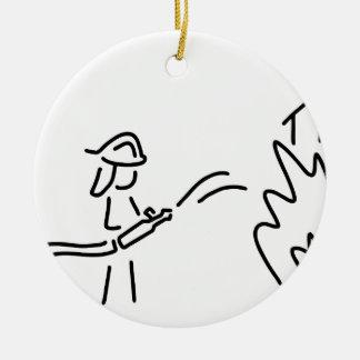 feuerwehrmann berufsfeuerwehr feuerwehrfrau keramik ornament