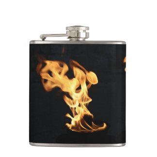 Feuerwehrmann-brennendes Feuer flammt   Geschenk Flachmann