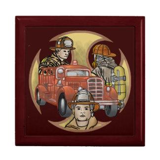Feuerwehrmann-Bruder-Kreuz Schmuckschachtel