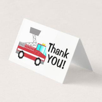 Feuerwehrmann danken Ihnen, | Löschfahrzeug Karte