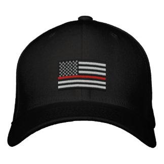 Feuerwehrmann-dünne rote Linie amerikanische Bestickte Baseballkappe