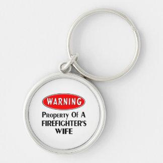Feuerwehrmann-Ehefrau-Warnung Schlüsselanhänger