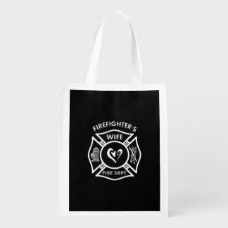 Feuerwehrmann-Ehefrau Wiederverwendbare Einkaufstasche
