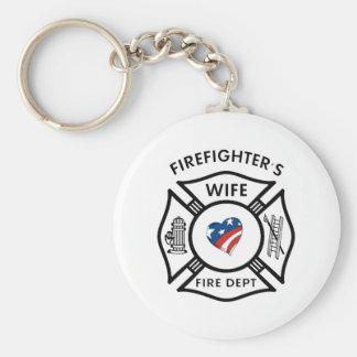 Feuerwehrmann-Ehefrauen USA Schlüsselanhänger
