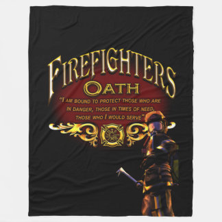 Feuerwehrmann-Eid Fleecedecke
