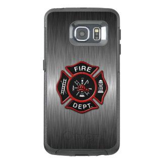 Feuerwehrmann-Emblem-Rot