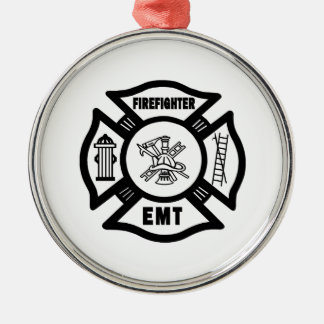 Feuerwehrmann EMT Silbernes Ornament