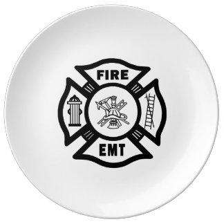 Feuerwehrmann EMT Teller