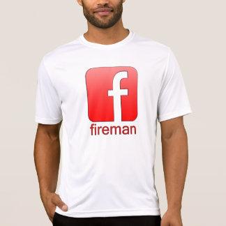 Feuerwehrmann Facebook Logo-einzigartige Schablone T-Shirt