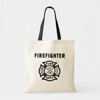 Feuerwehrmann-Feuer-Abteilung Budget Stoffbeutel