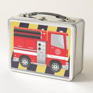 Feuerwehrmann-Feuer-Motor-Metallmittagessen-Kasten Metall Lunch Box