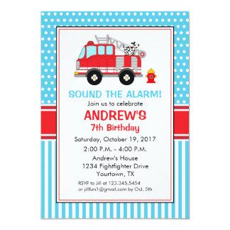Feuerwehrmann-Geburtstags-Einladung Karte