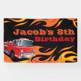 Feuerwehrmann-Geburtstags-Party Banner