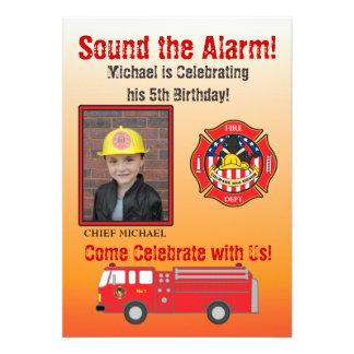 Feuerwehrmann-Geburtstags-Party Einladung