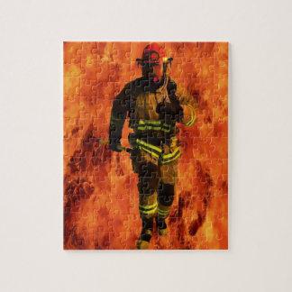 Feuerwehrmann GEGEN Flammen Puzzle
