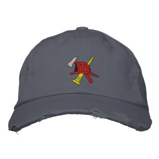 Feuerwehrmann gestickter Hut Bestickte Caps