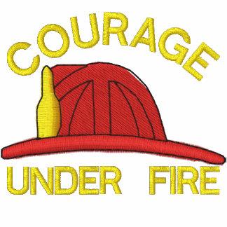 Feuerwehrmann gesticktes Shirt Besticktes Polohemd