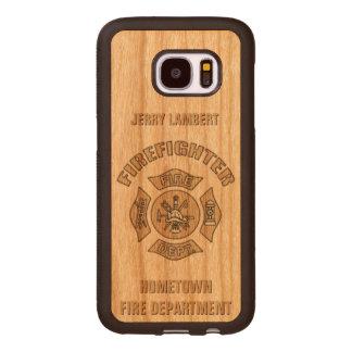 Feuerwehrmann-Gewohnheits-Schablone Samsung Galaxy S7 Holzhülle