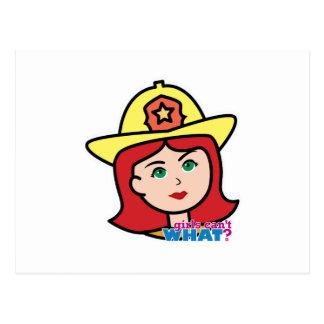 Feuerwehrmann-Hauptrot Postkarte