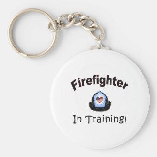 Feuerwehrmann im Training Schlüsselanhänger